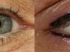 Eyeliner voor en na